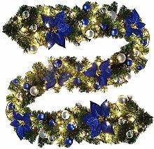 9Ft Christmas Garland with Light Pre-Lit Christmas