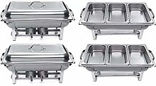 9L Chafing Dish Buffet Set, Stainless Steel Chafer
