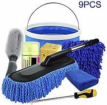 9Pcs Car Cleaning Tools Set, Car Cleaning Kit Car