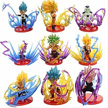 9pcs/set Action Figures Son Gohan Zamasu Broly