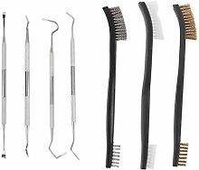 9pcs/Set Gun Cleaning Kit Set 3 Brass Steel Nylon