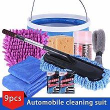 9pcs/Set Vehicle Cleaning Kit to Wash Car Exterior