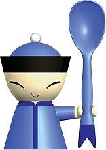 A di Alessi Mr Chin Egg Cup, Blue (ASG82 AZ)