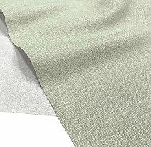 A-Express Soft Plain Linen Look Fabric Curtains