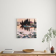 A Fine Catch Art Print Wrapped on Canvas East
