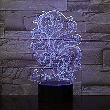 A-Generic 3D Illusion Lamp LED Night Light Living