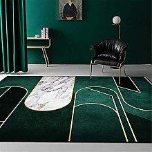 A-Generic Modern Dark Green Rug Fashion Chic