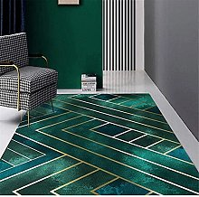 A-Generic Modern Green Home Rug Chic Golden Lines