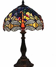 A Hummingbird Tiffany Table Lamp Handmade 12 Inch
