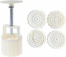A-LAOWENG 4pcs 3D Flower Stamps Moon Cake Decor