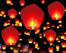 A Liittle Tree - 20 Red Chinese Flying Sky Lanterns