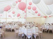 A Liittle Tree Mix Paper Lanterns White Pink