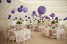 A Liittle Tree Mixed Paper Lanterns Purple Lilac
