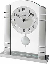 A Modern table clock with quartz movement powered,