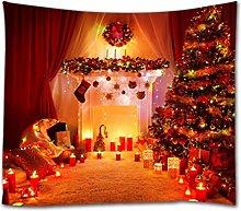 A.Monamour Christmas Fireplace Christmas Tree with