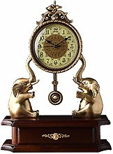 A/N Desk Clock Large Decorative Table Clock Bronze