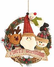 A/N PEPAXON Merry Christmas Door Wreath Snowman