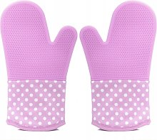 A pair of gardening gloves silicone insulating