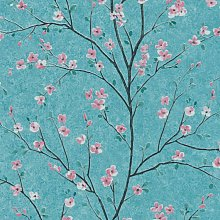 A.s.creations - Cherry Blossom Grey Or Teal