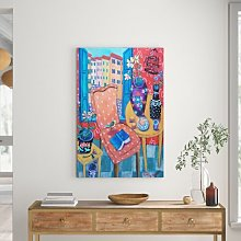 A Salon of Many Colors' Art Print Wrapped on