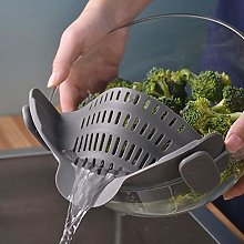 A sixx Food-Grade Silicone Material Pot Strainer,