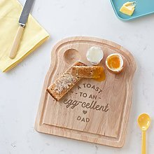 A Toast to an Egg-cellent Dad Breakfast Egg Board