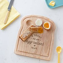 A Toast to an Egg-cellent Wife Breakfast Board -