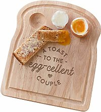 A Toast to The Egg-cellent Couple Board - Unique