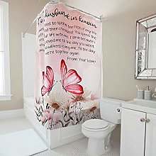 A Variety of Styles Easy Care Fabric Bath Curtain