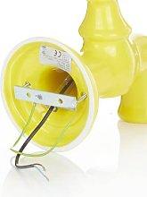 A189 ceramic wall lamp, glossy yellow