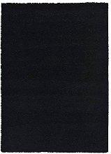 A2Z Rug Area Rug, Polypropylene, Black, 70x140