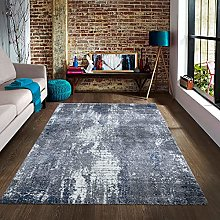 A2Z Rug |Mayfair 8418 Blue Premium Luxury Soft