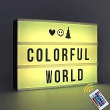 A4 Cinema Light Box 16 Colours Changing Light Up