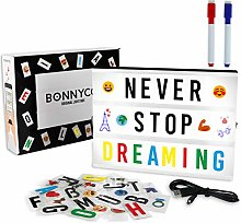 A4 Cinema Light Box with 400 Letters, Symbols &