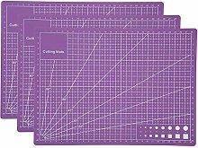A4 Cutting Mat 3pcs Craft Cutting Board Self