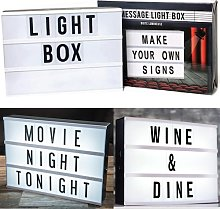 A4 Light UP Letter Box Cinematic LED Sign Wedding