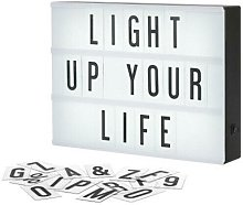 A4 Light Up Letter Box Cinematic Led Sign Wedding