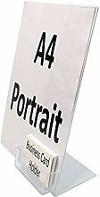 A4 Single Sided Literature Display with Business