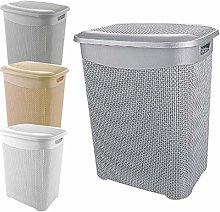 A406 Large Plastic Laundry Basket Clothes Hamper
