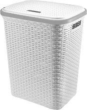 A406 Large Plastic Rattan Laundry Basket Clothes