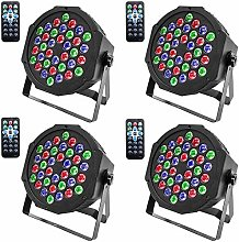 AABBC Disco Lights, 4 Pack 36 LEDs Strobe Lights 7