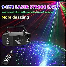 AABBC Party Lamp Strobe Pattern Lighting DMX Voice