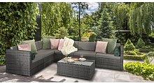 Aaliyah 6 Seater Rattan Effect Sofa Set Zipcode