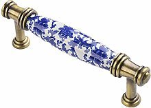 AAPOY Drawer Handle 2Pcs Ceramic Handle Solid Wood