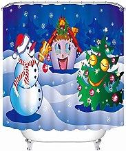 Aartoil Christmas Bathroom Shower Curtain,