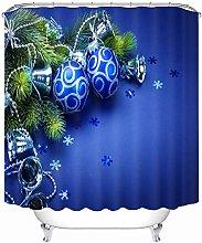 Aartoil Christmas Shower Curtain Elegant,