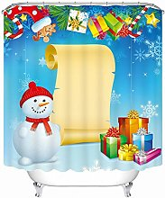 Aartoil Christmas Shower Curtain Fabric, Polyester