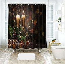 Aartoil Christmas Shower Curtain For Bathroom,