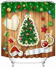 Aartoil Christmas Shower Curtain Modern, Polyester