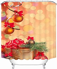 Aartoil Christmas Shower Curtain, Polyester